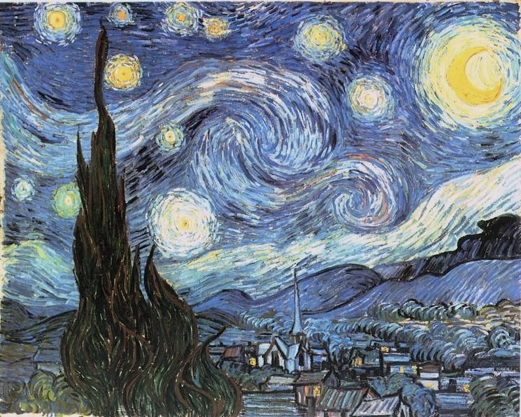 La noche estrellada, de Vincent Van Gogh (1889)